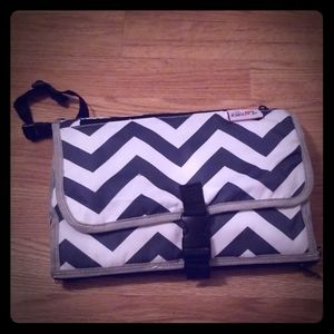 Chevron Baby Changing Pad With Storage